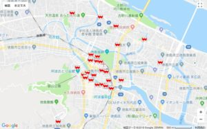 FREESPOTマップ