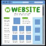 「WEBSITE」という名前の普通のウェブサイト(ホームページ)のイラスト
