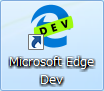 microsoft edge devアイコン