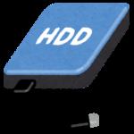 ポータブルハードディスクのイラスト