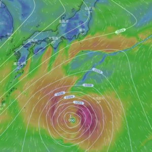 Windy 2020/10/06 11:00 のモデル
