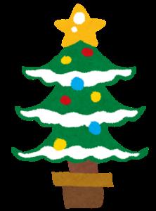 クリスマスのイラスト「クリスマスツリー」